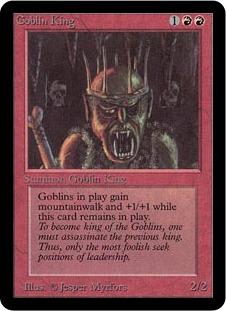 《ゴブリンの王/Goblin King》[LEA] 赤R
