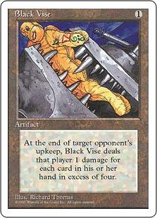 《黒の万力/Black Vise》[4ED] 茶U