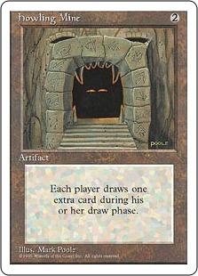《吠えたける鉱山/Howling Mine》[4ED] 茶R