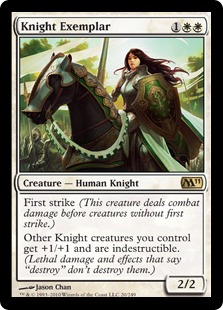 【Foil】《模範の騎士/Knight Exemplar》[M11] 白R
