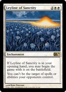 《神聖の力線/Leyline of Sanctity》[M11] 白R