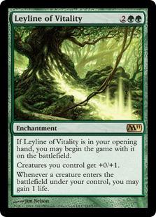 《活力の力線/Leyline of Vitality》[M11] 緑R