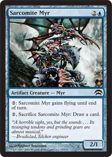 《サルコマイトのマイア/Sarcomite Myr》[PCS] 青C