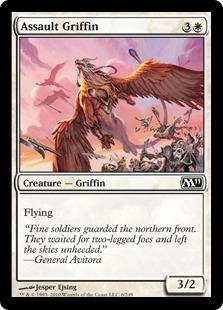 【Foil】《突撃するグリフィン/Assault Griffin》[M11] 白C
