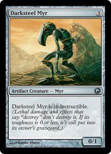 《ダークスティールのマイア/Darksteel Myr》[SOM] 茶U
