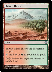《シヴのオアシス/Shivan Oasis》[PvC] 土地U