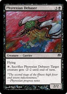 《ファイレクシアの堕落者/Phyrexian Debaser》[PvC] 黒C