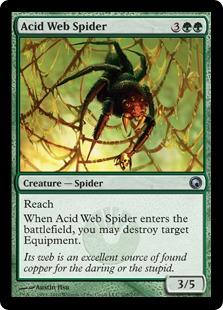 《酸の巣の蜘蛛/Acid Web Spider》[SOM] 緑U