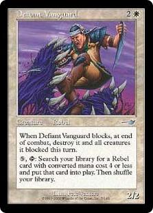 【Foil】《果敢な先兵/Defiant Vanguard》[NEM] 白U