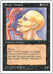 《センギアの吸血鬼/Sengir Vampire》[4ED] 黒U
