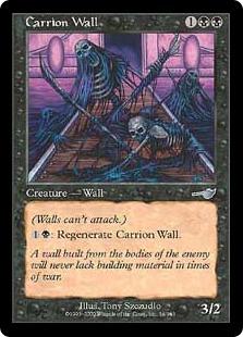 《屍肉の壁/Carrion Wall》[NEM] 黒U