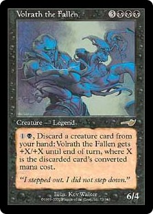 《墜ちたる者ヴォルラス/Volrath the Fallen》[NEM] 黒R