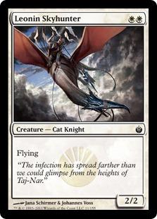 《レオニンの空狩人/Leonin Skyhunter》[MBS] 白C
