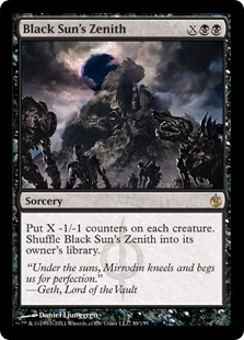 《黒の太陽の頂点/Black Sun's Zenith》[MBS] 黒R