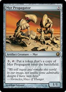 《マイアの繁殖者/Myr Propagator》[SOM] 茶R
