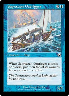 【Foil】《サプラーツォのアウトリガー艇/Saprazzan Outrigger》[MMQ] 青C