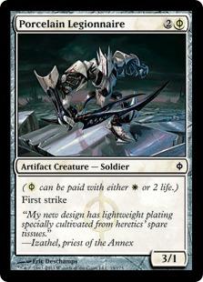 【Foil】《磁器の軍団兵/Porcelain Legionnaire》[NPH] 白C