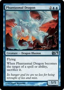 《幻影のドラゴン/Phantasmal Dragon》[M12] 青U