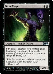 《縞瑪瑙の魔道士/Onyx Mage》[M12] 黒U
