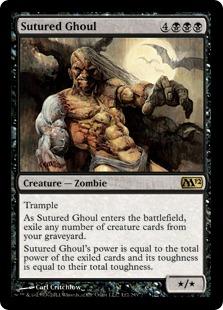 《縫合グール/Sutured Ghoul》[M12] 黒R