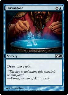 【Foil】《予言/Divination》[M12] 青C