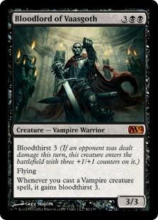 【Foil】《ヴァーズゴスの血王/Bloodlord of Vaasgoth》[M12] 黒R