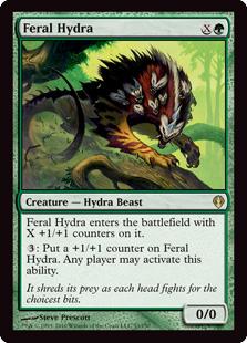 《残忍なハイドラ/Feral Hydra》[ARC] 緑R