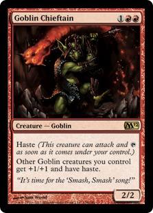 《ゴブリンの酋長/Goblin Chieftain》[M12] 赤R