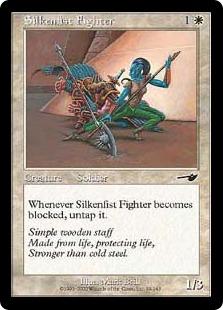 《絹拳の闘士/Silkenfist Fighter》[NEM] 白C