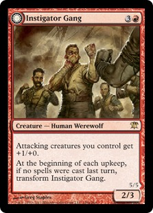 《扇動する集団/Instigator Gang》/《野生の血の群れ/Wildblood Pack》[ISD] 赤R
