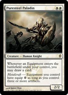 《純鋼の聖騎士/Puresteel Paladin》[NPH] 白R