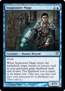 《瞬唱の魔道士/Snapcaster Mage》[ISD] 青R