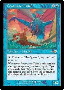 《ルートウォーターの泥棒/Rootwater Thief》[NEM] 青R