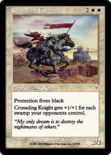 【Foil】《聖戦の騎士/Crusading Knight》[INV] 白R