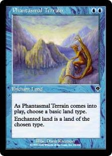 《幻影の地/Phantasmal Terrain》[INV] 青C