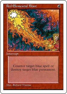 《赤霊破/Red Elemental Blast》[4ED] 赤C