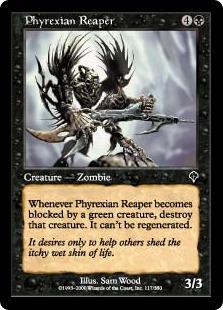 《ファイレクシアの死神/Phyrexian Reaper》[INV] 黒C