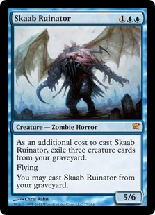 《スカーブの殲滅者/Skaab Ruinator》[ISD] 青R