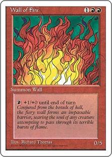 《炎の壁/Wall of Fire》[4ED] 赤U