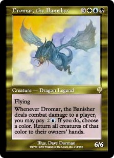《追放するものドロマー/Dromar, the Banisher》[INV] 金R