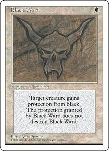 《黒の護法印/Black Ward》[4ED] 白U