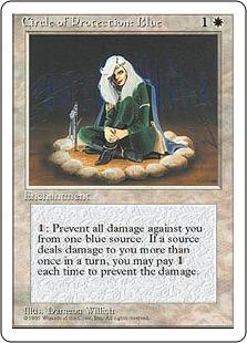 【アルターネイト版】《青の防御円/Circle of Protection: Blue》[4ED] 白C