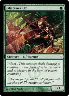 《ぎらつかせのエルフ/Glistener Elf》[NPH] 緑C