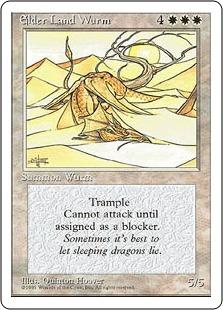《老いたるランド・ワーム/Elder Land Wurm》[4ED] 白R