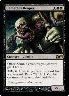 《墓地を刈り取るもの/Cemetery Reaper》[M12] 黒R
