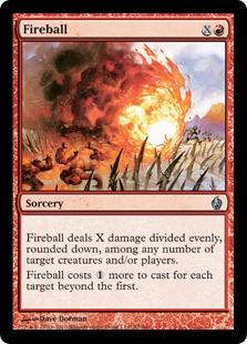 【Foil】《火の玉/Fireball》[FAL] 赤U