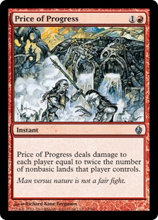 【Foil】《発展の代価/Price of Progress》[FAL] 赤U