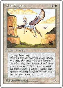 《メサ・ペガサス/Mesa Pegasus》[4ED] 白C