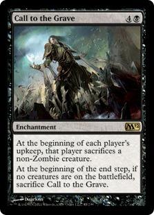 《墓への呼び声/Call to the Grave》[M12] 黒R