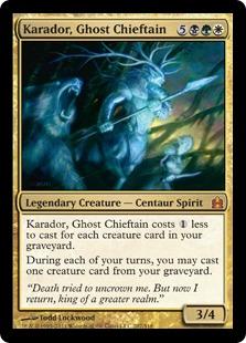 《幽霊の酋長、カラドール/Karador, Ghost Chieftain》[CMD] 金R